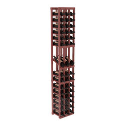 3 Column Display Row Cellar Kit in Pine with Cherry Stain + Satin Finish - Make your best vintage the focal point of your wine cellar. High-reveal display rows create a more intimate setting for avid collectors' wine cellars. Our wine cellar kits are constructed to industry-leading standards. You'll be satisfied. We guarantee it.