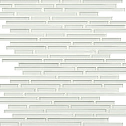 Artistic Tile Opera Glass Collection - Wolfgang White Harmonic Lines Mosaic - Versatile, contemporary and timeless: Opera Glass offers ultimate design flexibility. Clear float glass, with color applied to the back, in large and small formats, full spectrum of colors, satin and gloss finishes, and wide selection of shapes allow for endless pairing possibilities. Its versatility is unrivaled. Modern and classic, mysterious and inviting, Opera Glass is fresh and elegant.