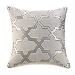 """Malibu Creations - Malibu Creations Decorative Pillows, Gray & Gold, 18"""" Square, French Gate - Could your home decor benefit from a little French sophistication and a European elegance? You can get that in a neat 18-inch space when you toss this stunning throw pillow onto your bed or couch. The gray-on-gray color scheme and pretty pattern mix geometric graphics with subtle sheen, all on a comfortable room accent that will have you lounging in luxury."""