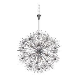 Maxim Lighting - Maxim Lighting Starfire Chandelier X-CPCB64793 - Spectacular display of Beveled Crystal beads of various sizes which are mounted on sculptures Polished Chrome metal formations which will sure to be the focal point of your room. The high power Xenon bulbs add sparkle to the crystal while producing a natural white light.