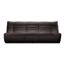 Zuo Modern - Zuo Modern Carnival Modern Sofa X-275009 - Like curling up in someone's arms, the Carnival sectional set is wrapped in a soft leatherette, padded and tufted in all the right ways. Comes in espresso, black and white.