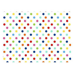 "SheetWorld - SheetWorld Fitted Crib / Toddler Sheet - Primary Colorful Polka Dots Woven - This luxurious 100% cotton ""woven"" crib / toddler sheet features primary multi-colored polka dots on a solid white background. Our sheets are made of the highest quality fabric that's measured at a 280 tc. That means these sheets are soft and durable. Sheets are made with deep pockets and are elasticized around the entire edge which prevents it from slipping off the mattress, thereby keeping your baby safe. These sheets are so durable that they will last all through your baby's growing years. We're called SheetWorld because we produce the highest grade sheets on the market today. Size: 28 x 52."