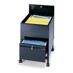 Locking Mobile Tub Filing Cabinet with Drawer-Legal Size -