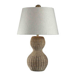 Dimond Lighting - Dimond Lighting 111-1088 Sycamore Hill Light Rattan Table Lamp - Dimond Lighting 111-1088 Sycamore Hill Light Rattan Table Lamp