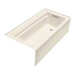 KOHLER - KOHLER K-1125-RA-47 Archer 6' Bathtub with Comfort Depth Design - KOHLER K-1125-RA-47 Archer 6' Bathtub with Comfort Depth Design, Integral Apron and Right-Hand Drain in Almond