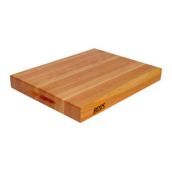 "John Boos - Boos Cherry Cutting Board with Grips - 2-1/4"" Thick Butcher Block - Available in 3 sizes: 18 x 12, 20 x 15 and 24 x 18. Stunning and sturdy, these cherry edge-grain boards are reversible and include indented hand grips."