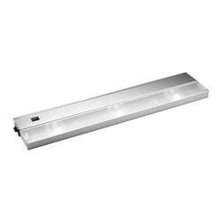 KCL - KCL TaskWork Modular 3-Light 20W Xenon Under Cabinet Light X-SS31221 - This Kichler Lighting under cabinet light features a clean modular design complimented by a crisp Stainless Steel finish. It comes with three xenon bulbs, 20 watts each, for plenty of ample countertop lighting.