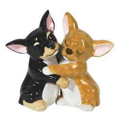 Westland - Hugging Chihuahuas Kitchenware Salt and Pepper Shakers - This gorgeous 4 Inch Hugging Chihuahuas Kitchenware Salt and Pepper Shakers has the finest details and highest quality you will find anywhere! 4 Inch Hugging Chihuahuas Kitchenware Salt and Pepper Shakers is truly remarkable.