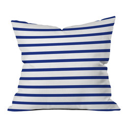 Holli Zollinger Nautical Stripe Outdoor Throw Pillow - Do you hear that noise? it's your outdoor area begging for a facelift and what better way to turn up the chic than with our outdoor throw pillow collection? Made from water and mildew proof woven polyester, our indoor/outdoor throw pillow is the perfect way to add some vibrance and character to your boring outdoor furniture while giving the rain a run for its money.