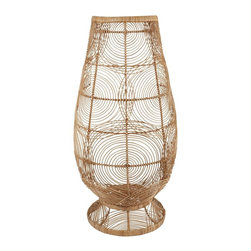 Lazy Susan - Lazy Susan 466038 Air Fan Pedestal Vase - Want a quicker way to add wow to your space? Here's some wicker and wire woven into an oversized vase shape that'll make your room look slicker and speed up your ticker. Pick 'er up by hitting the clicker.
