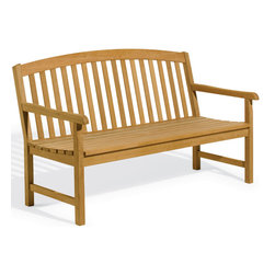 "Oxford Garden - Chadwick 6' Bench - The Chadwick 6' Bench is designed with an arched back and deep seating for a relaxed fit. Comfort, beauty and quality can all be found in this traditional collection. Handcrafted of Shorea hard wood using mortise and tenon joinery, this bench is built to last.; Gently arching back design adds softness to any setting.; Arms are sculpted using 35 degree radius for a well-rounded, comfortable feel.; Chadwick design collection has a deep seat and ergonomic curve.; Mortise and tenon joint construction adds strength and longevity.; Assembly Required; Country of Origin: China; 1 year Warranty; Weight: 86 lbs; Dimensions: 35""H x 72""W x 26.5""D"
