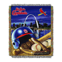 The Northwest Company - St. Louis Cardinals 'Home Field Advantage' Woven Throw - Featuring durable construction and an eye-catching, detailed design, this blanket is perfect for adding spirited sports flair to your space.   48'' W x 60'' H 100% polyester Machine wash; tumble dry Imported