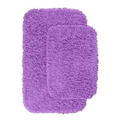 "Garland Rug - Bath Mat: Jazz Purple 21"" x 34"" Bathroom 2 Piece Rug Set - Shop for Flooring at The Home Depot. Liven up your bathroom with a Jazz Shag Bathroom Rug. These hip and fun rugs will fit easily into any bathroom decor. Jazz is made with 100% Nylon for superior softness and colorfastness. Proudly made in the USA."