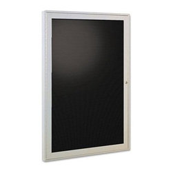 Ghent 36 x 24 in. Enclosed Letter Board - Display important information and notices, on the Ghent 36 x 24 in. Enclosed Letter Board. This enclosed letter board comes with an aluminum-framed door that comes with shatter-resistant acrylic and flush-mounted locks. The trendy letter board has precision grooves for easy insertion of the letters. Use this letter board to keep messages safely locked. Made in the USA, this set includes enclosed letter board, gothic font letters, numbers, characters and two keys.About United StationersDedicated to making life in the office more organized, efficient, and easier, United Stationers offers a wide variety of storage and organizational solutions for any business setting. With premium products specifically designed with the modern office in mind, we're certain you will find the solution you are looking for.From rolling file carts to stationary wall files, every product in the United Stations line is designed with one simple goal: to improve office efficiency. In turn, you will find increased productivity, happier, more organized employees, and an office setting that simply runs better, with the ultimate goal of increasing bottom line profits.
