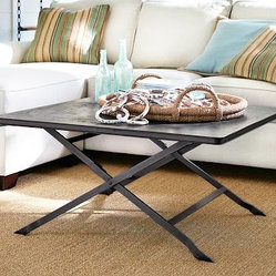 Carter Metal Square Coffee Table, Black