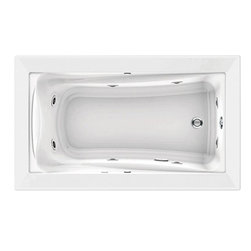 "American Standard - American Standard 3571.018WC.020 Green Tea 5 x 36 EverClean Whirlpool,  White - American Standard 3571.018WC.020 Green Tea 5' x 36"" EverClean Whirlpool,  White. This whirlpool tub features an acrylic construction with fiberglass reinforcement, a form-fitted neck support, a molded-in set of armrests with elbow supports, dual accessory deck areas, a pre-leveled tub bottom, and it measures 5' by 36"" by 21"". This model also features an EverClean system that inhibits the growth of bacteria, mold, and mildew, and a whilrpool system that includes a single speed pump with air switch (on/off), 2 silent air volume controls, a quick connect Safe-T-Heater connection system, and 8 multi-directional flow-adjustable jets, including two in the lumbar area."