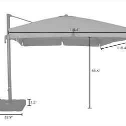 Kontiki - Kontiki Shade & Cooling Offset Patio Umbrellas - #N/A