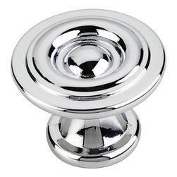 Elements - 575PC 1-3/16 Inch Dia Modern Cabinet Knob with One 8/32 Inch x 1 Inch screw - 1 3/16 inch Dia Modern Cabinet Knob with one 8/32 inch x 1 inch screw. Finish: Polished Chrome