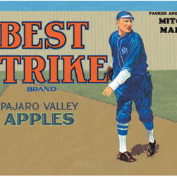 Buyenlarge - Pajaro Valley Apples: Best Strike Brand 20x30 poster - Series: Baseball