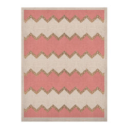 "Kess InHouse - Monika Strigel ""Avalon Coral Chevron"" White Blush Naturals Canvas (20"" x 24"") - Display your favorite KESS Naturals Canvas with organic elegance. KESS InHouse is proud to feature our entire artist gallery as the KESS Naturals collection. These unique artworks are recreated on a recycled burlap using only eco-friendly inks. They have a rustic fabric feel that we suggest framing without glass to fully convey the luxe texture of these prints. This eco-friendly material has been used by artists for centuries as an alternative to canvas. Upon ordering you will receive the artwork frameless to give you the best possible shipping and framing flexibility."