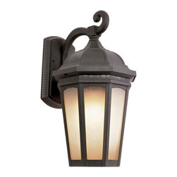 Trans Globe Lighting - Trans Globe Lighting 40150 BK Tea Chateau Traditional Outdoor Wall Sconce - Weather resistant cast aluminum. Decorative wall bracket and lantern. Open at bottom for easy bulb replacement.