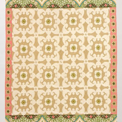 Floral Fresco Rug - With a traditional pattern in soft colors, this rug is such a beautiful piece. It is reminiscent of intricate European building patterns and has a Middle Eastern flair. I love the way the patterns and colors work together to create this stunning piece.