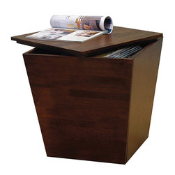 Winsomewood - Mesa Storage Cube, End Table - Functional and attractive, this tapered cube fits in discretely with any style of furniture. Ready to assemble.