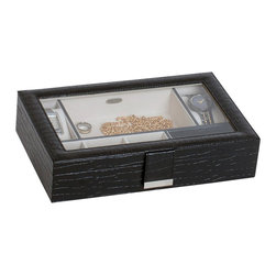Mele Jewelry - Mele and Co. Emerson Men's Valet in Black - Mele Jewelry - Jewelry Boxes - 00680F13