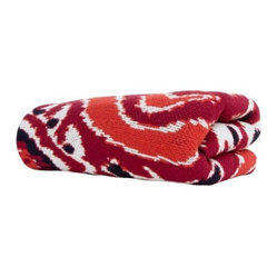 Eco Ikat 6 Spice and Pomegranate Throw Blanket