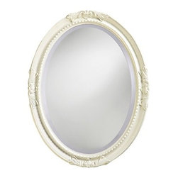 "Howard Elliott ""Queen Ann"" Antique White Mirror - Hang this sweet ""Queen Ann"" mirror in your cottage or shabby chic room.  Its antique white finish is casual and elegant, all at the same time."