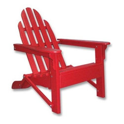 Prairie Leisure Aspen Folding Adirondack Chair - The Prairie Leisure Aspen Folding Adirondack Chair is colorful durable and convenient. It folds for compact storage when not in use. This makes this Adirondack chair a great choice if you need to store your outdoor furniture in the garage or shed from time to time. Crafted from decay-resistant North American Aspen this beautiful chair is sure to stand the test of time. Available in a wide variety of colors from traditional to trendy. Made here in USA this chair sports the best-quality outdoor or exterior finish designed to withstand harsh weather conditions. The chair is also available in an unfinished option giving you the chance to add your own personal touch to the chair. To ensure easy assembly the seat and back of the Adirondack chair are pre-assembled and detailed instructions are included. Brighten up your summer with this convenient Aspen Folding Adirondack Chair. About Prairie LeisureLocated in Pierz Minn. Prairie Leisure Design manufactures casual outdoor furniture. Their products have a traditional design and are made in the USA from Red Cedar or Aspen a North American hardwood. They offer a wide variety of products designed for every age group: elderly adults juniors and kids. Ideal for relaxing and socializing in the great outdoors Prairie Leisure Design furniture adds comfort and style to any backyard or patio.