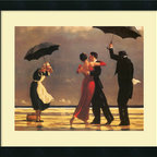 Amanti Art - 'The Singing Butler' Framed Print by Jack Vettriano - Sweetly nostalgic, this gallery quality print by Jack Vettriano lends such charm to your decor. Beautifully set off by a cream-linen mat and black-satin wood frame, it brings a whimsical sense of romance to your favorite setting.