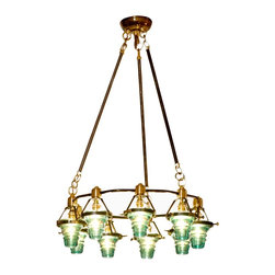 Telegraph Light Round Chandelier - The Telegraph Light chandelier has a unique vintage flair. It's definitely a statement piece.