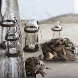 Recycled Tea Light Holder - In a grouping on your patio table or in lining your deck, these cute little hurricanes would add the perfect touch.