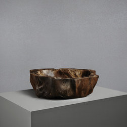Small Petrified Wood Stone Sink - This historic basin is carved from a tree that has been petrified over millions of years into solid stone making it totally unique and utterly beautiful.