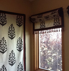 eclectic roman blinds by JDuce Designs