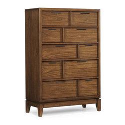 Klaussner Furniture - Westbury Chest - Made of wood and veneers with rich wood texture, this chest combines functional simplicity with modern quality craftsmanship. The chest has drawers with English / French dovetail joints.