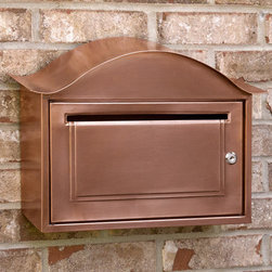 Arched Locking Wall-Mount Copper Mailbox - Antique Copper - Add a sense of security to your home with this locking mailbox. Each mailbox includes two keys and is made of solid copper for years of use.