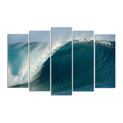 Ready2HangArt - Ready2hangart Nicola Lugo 'Pipe' Canvas Wall Art - Renowned Surf Photographer Nicola Lugo, takes you behind the lens of his travels worldwide. This photograph is offered as part of a limited 'Home Decor' line, being the perfect addition to any living or work space.