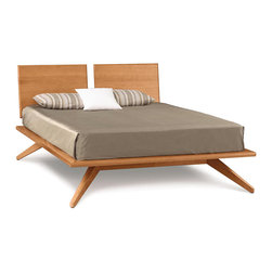 Copeland Furniture - Copeland Furniture Astrid Queen Bed with 2 Headboard Panels 1-AST-12-03 - A true platform bed, Astrid may be ordered without or with 1 or 2 headboard panels. Recommended mattress thickness is 8' to 12'. The collection is crafted in solid cherry hardwood.