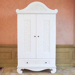 Chelsea Armoire in White by Bratt Decor - Chelsea Armoire in White by Bratt Decor