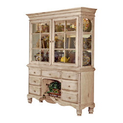 Hillsdale Furniture - Hillsdale Wilshire Buffet in Antique White - The Wilshire collection features a blend of cottage styling with country accented details. The blend of Americana and English country gives the Wilshire collection a look and feel that will enhance any home. The craftsmanship is evident in each piece. Opening a drawer is a reflection of old world craftsmanship, complete with tongue and groove drawer bottoms, English dovetail drawer construction and thick solid wood drawers. Finishes have been painstakingly applied to give years of enjoyment.