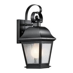 "Kichler - Kichler 9707BK Mount Vernon Collection 1 Light 13"" Outdoor Wall Light - Kichler 9707 Mount Vernon Outdoor Wall Light"