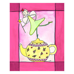 Oh How Cute Kids by Serena Bowman - I Am A Little Teapot, Ready To Hang Canvas Kid's Wall Decor, 8 X 10 - Coffee, Tea or with me.  Here is one of my Tea Time Girls!  How cute are they!!