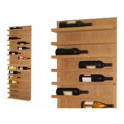 Vinotemp - Wine Rack Display Shelves - This Vinotemp Wood Wine Rack allows you to individually organize and display up to 14 standard size bottles (or 28 smaller ones). Vinotemp uses untreated domestic Redwood and quality metal fasteners for this rack. Hand made in their Southern California factory, this rack can be made to order just for you.