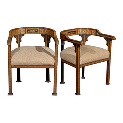 Pair of Anglo Indian Chairs