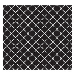 Removable Wallpaper Lattice-Peel & Stick Self Adhesive, White, Black, 24x96 - Couture WallSkins.  Your wall will love you for this.