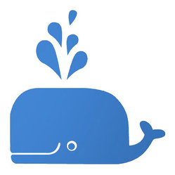 Whale Wall Sticker, Blue
