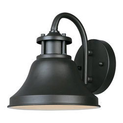 Designers Fountain - Designers Fountain Bayport Dark Sky Transitional Outdoor Wall Sconce X-ZB-11313 - Traditional details and subtle industrial influencing add to the appeal of this Designers Fountain outdoor wall sconce. From the Bayport Collection, it features a beautiful gooseneck design accentuated by a dark toned Bronze finish that helps to pull the look together. Dark Sky compliant.