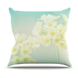 "Kess InHouse - Monika Strigel ""Happy Spring"" Yellow Teal Throw Pillow (18"" x 18"") - Rest among the art you love. Transform your hang out room into a hip gallery, that's also comfortable. With this pillow you can create an environment that reflects your unique style. It's amazing what a throw pillow can do to complete a room. (Kess InHouse is not responsible for pillow fighting that may occur as the result of creative stimulation)."